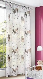 Vorhänge Babyzimmer Mädchen : schlaufenschal kinderzimmer gardine pferde 140x245cm ~ Michelbontemps.com Haus und Dekorationen