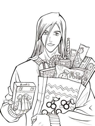 Ukitake Taichou: Who wants some candy? from Manga Bleach