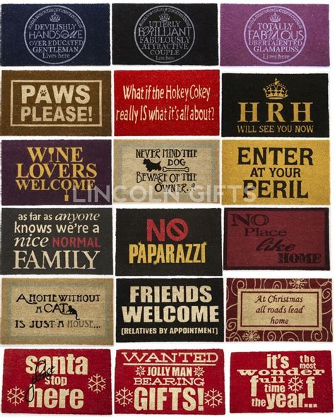Design Doormats by Doormat Doormats Funky Slogan Design Door Floor Mat Mats