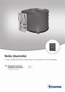 Truma B14 Hot Water System User Manual