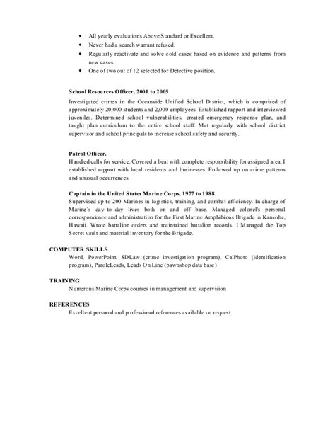 Crime Investigator Resume Exle by Criminal Investigator Resume