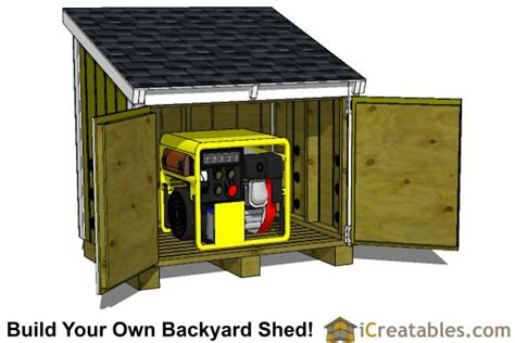 Small Generator Shed Plans by 5 2 Quot X 3 8 Quot Lean To Generator Enclosure Plans