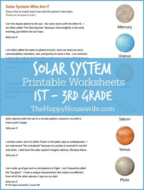 solar system worksheets free printables worksheets