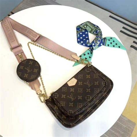 louis vuitton lv women multi pochette accessoires bag monogram canvas pink lulux