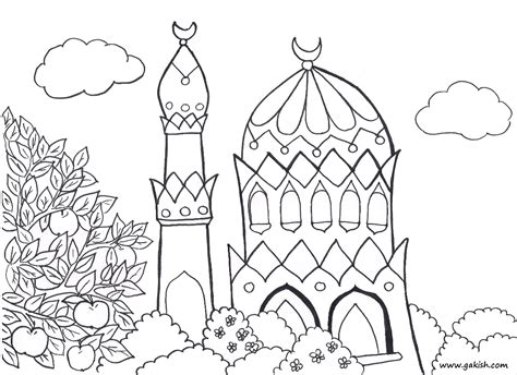 Coloring Mosque by Mosque Coloring Coloring Pages