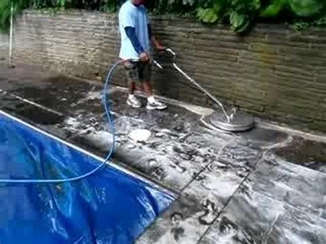 pressure washing  pool deck   surface cleaner youtube