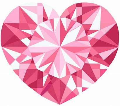 Heart Crystal Pink Clipart Transparent Vector Crystals