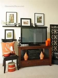 Decorating around a flat screen tv from the by