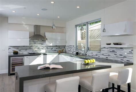 glass tile backsplash pictures for kitchen 29 gorgeous kitchen peninsula ideas pictures designing