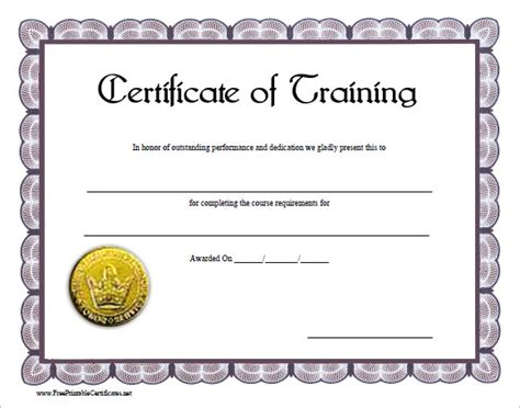 Traininb Certificate Template by 23 Training Certificate Templates Free Sles