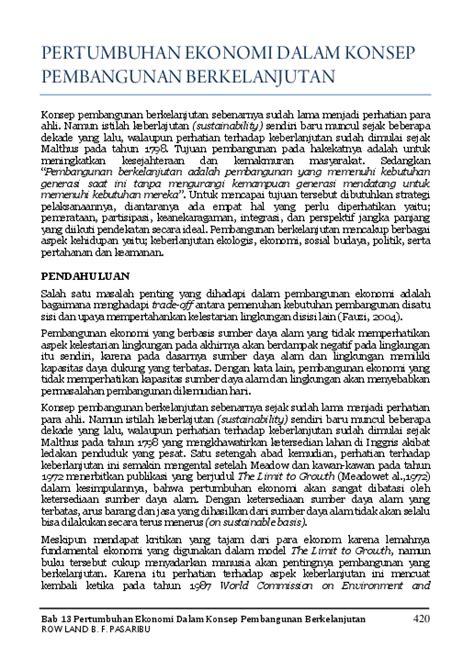 (PDF) Bab 13 Pertumbuhan Ekonomi Dalam Konsep Pembangunan