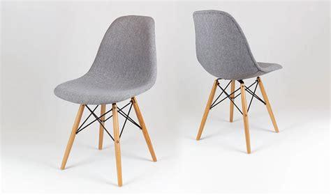 meubles de cuisine discount chaise tapisse design gris chin avec pied en bois et mtal