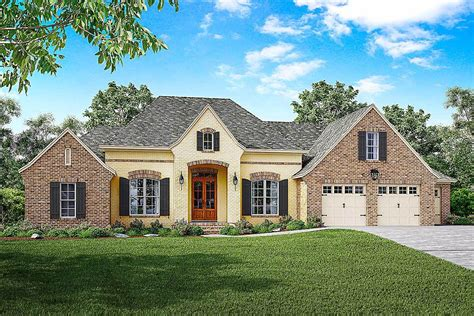 French Country House Plan With Split Bedrooms And A Bonus
