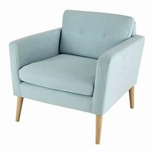 Fauteuil Vintage Maison Du Monde : fauteuil vintage en tissu bleu clair noe maisons du monde ~ Teatrodelosmanantiales.com Idées de Décoration