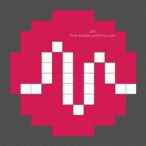 Graph Paper Drawing Ideas Musically Tik Tok Logo Free Hama Beads Design 12x12