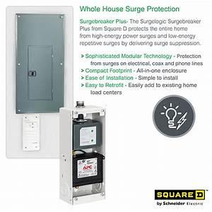 Square D Surge Breaker Plus Whole House Surge Protector