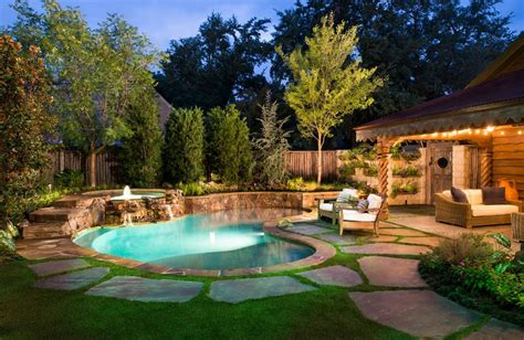 Outdoor Gorgeous Small Inground Pools For Modern Backyard