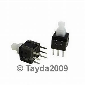 5 X Push Button Switch Momentary On  Off Dpdt 0 5a 50vdc