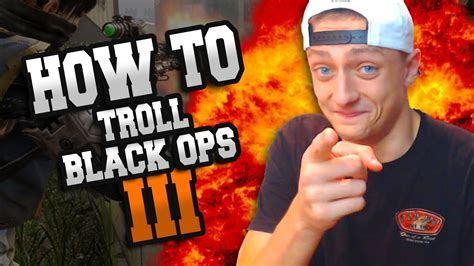 How To Troll On Black Ops 3! Facecam!  Youtube