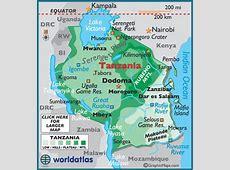 Tanzania Latitude, Longitude, Absolute and Relative