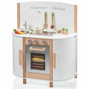 Sun spielkuche gourmet station weiss aus holz 04147 for Sun spielküche