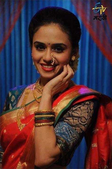 amruta marathi actors and indian lehenga saree and saree