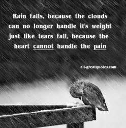 Quotes About Tears and Rain