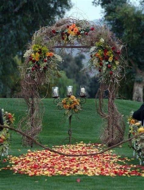 fall outdoor wedding best photos cute wedding ideas