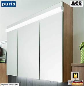Spiegelschrank 100 Cm Led : puris ace spiegelschrank 100 cm mit led beleuchtung impuls home ~ Bigdaddyawards.com Haus und Dekorationen