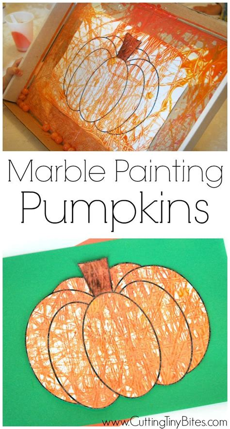 marble painting pumpkins  images halloween