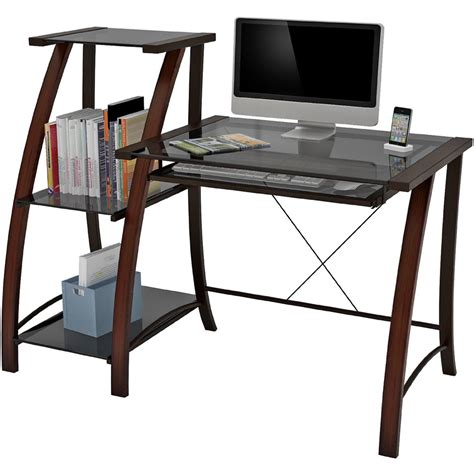 desk with bookcase attached triana desk and bookcase in desks and hutches
