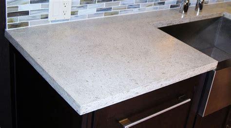white concrete counter  island kitchen concrete