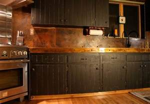 kitchen metal backsplash ideas copper backsplash for a distinctive kitchen with unique character