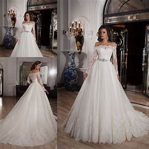 new style boat neck long sleeve lace wedding dresses gowns With vintage robe de mariée