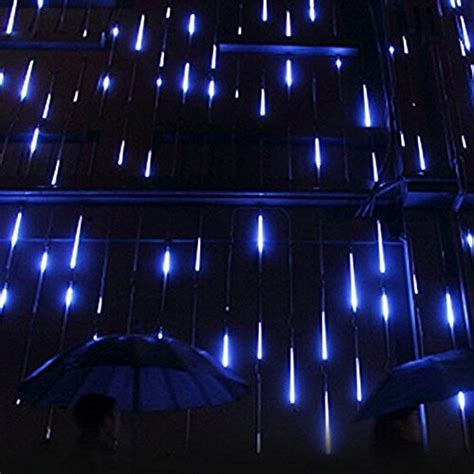 surlight led falling rain lights with 30cm 8 tube 144 leds