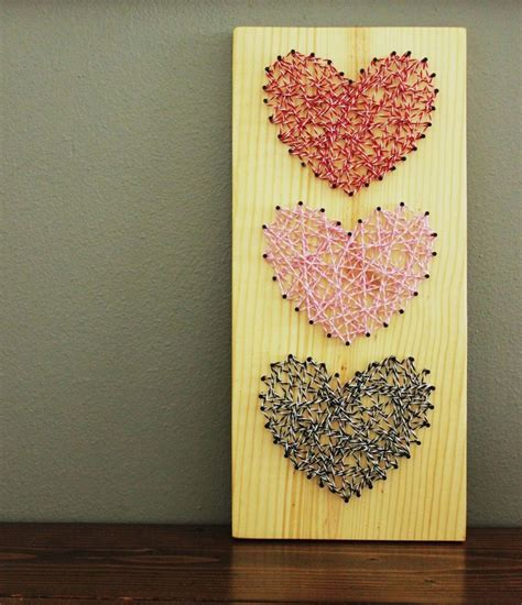 diy bakers twine heart string art