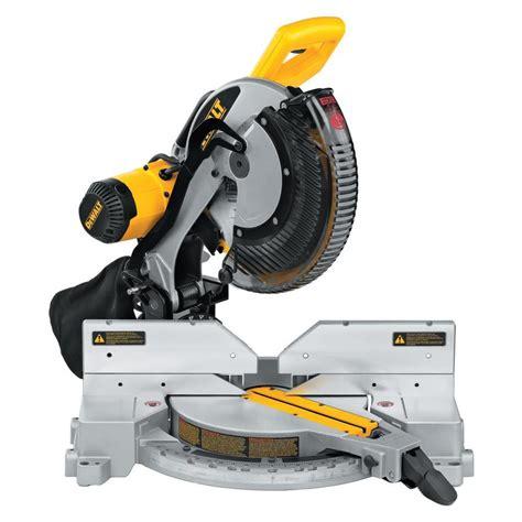 blade fans at lowes shop dewalt 12 in 15 amp dual bevel compound miter saw at