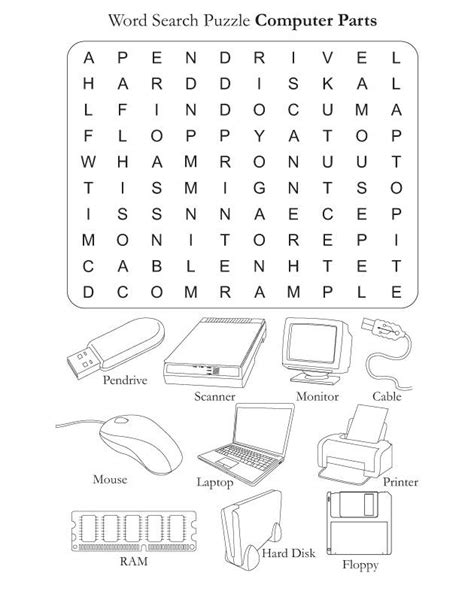 parts   computer worksheets computer parts