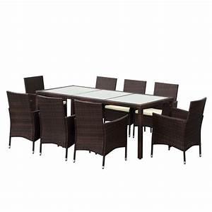 Ensemble Table De Jardin : ensemble de jardin ikayaa 8 places ~ Edinachiropracticcenter.com Idées de Décoration