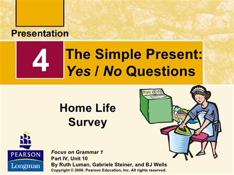 The Simple Present, Yes And No Questions