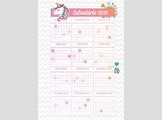 3 Planner de professor Unicornio Calendario 2018 Fazendo