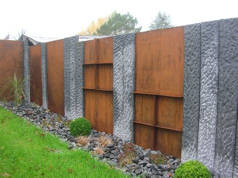 Garten Sichtschutz Eisen by Galabau Eckhardt Sichtschutz Granit Und Stahl