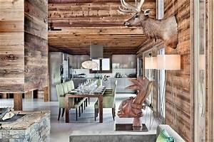 Decoration Interieur Chalet Bois : chalet en bois luxueux pour les amoureux de la montagne ~ Zukunftsfamilie.com Idées de Décoration