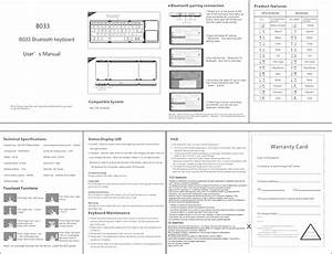 Dzh B033 B033 Bluetooth Keyboard User Manual B033