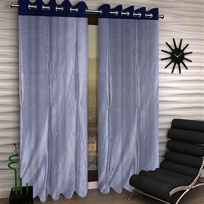 Curtains Silk Kuber Voile Grommet Shining Elegance