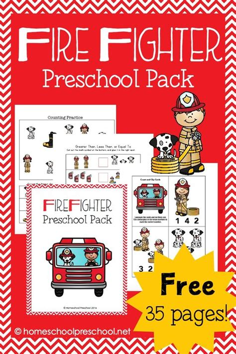firefighter preschool printable learning pack maze 442 | c2b5c5c31cd0efc26adcabd61e767589
