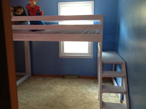 Loft Platform Bed by White Loft Beds With Platform Diy Projects