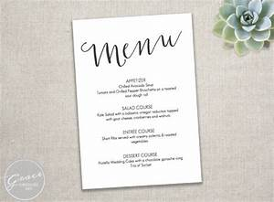 23 event menu templates With free menu templates for dinner party