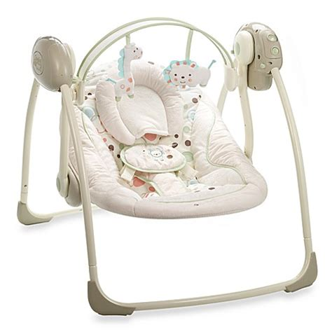 comfort and harmony swing comfort harmony portable swing in sandstone bed bath