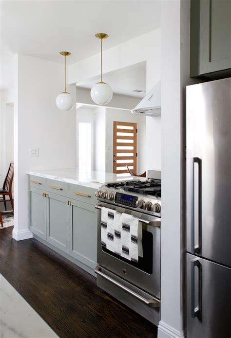 gray base cabinets transitional kitchen farrow